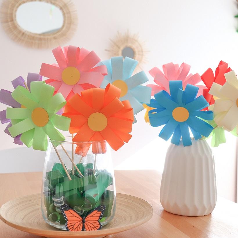 La brigade d'Annaelle: Bouquet de fleurs en papier