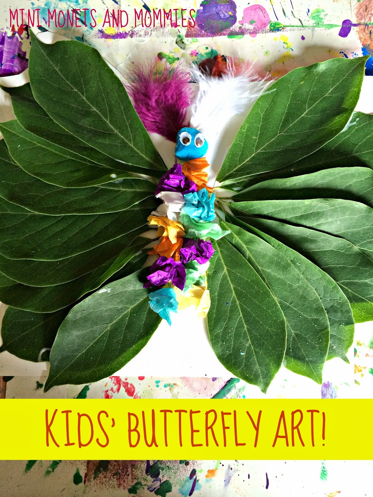 Mini Monets And Mommies Kids Butterfly Plant Art Activity