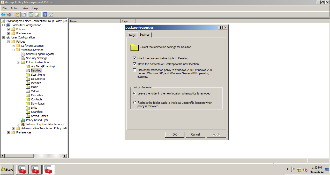 AD Shot Gyan: Deleting the Folder Redirection Group Policy