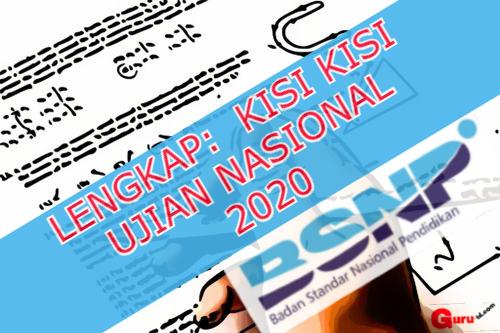 GAMBAR KISI KISI soal UN 2020 LENGKAP