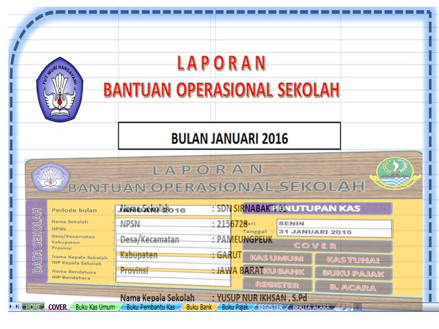 Unduh Aplikasi Buku Kas Umum ( BKU ) Format Excel Untuk laporan Bos Lengkap