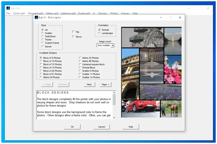 PhotoSpills Collage Creator :  Δημιουργήστε εντυπωσιακά κολάζ