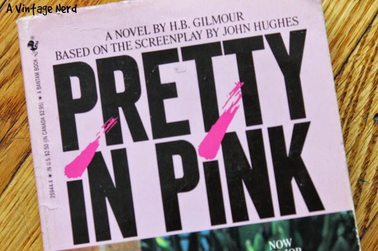 A Vintage Nerd, Vintage Blog, Pretty In Pink, 80's Movies, Movie Tie-in Books, Pop Culture