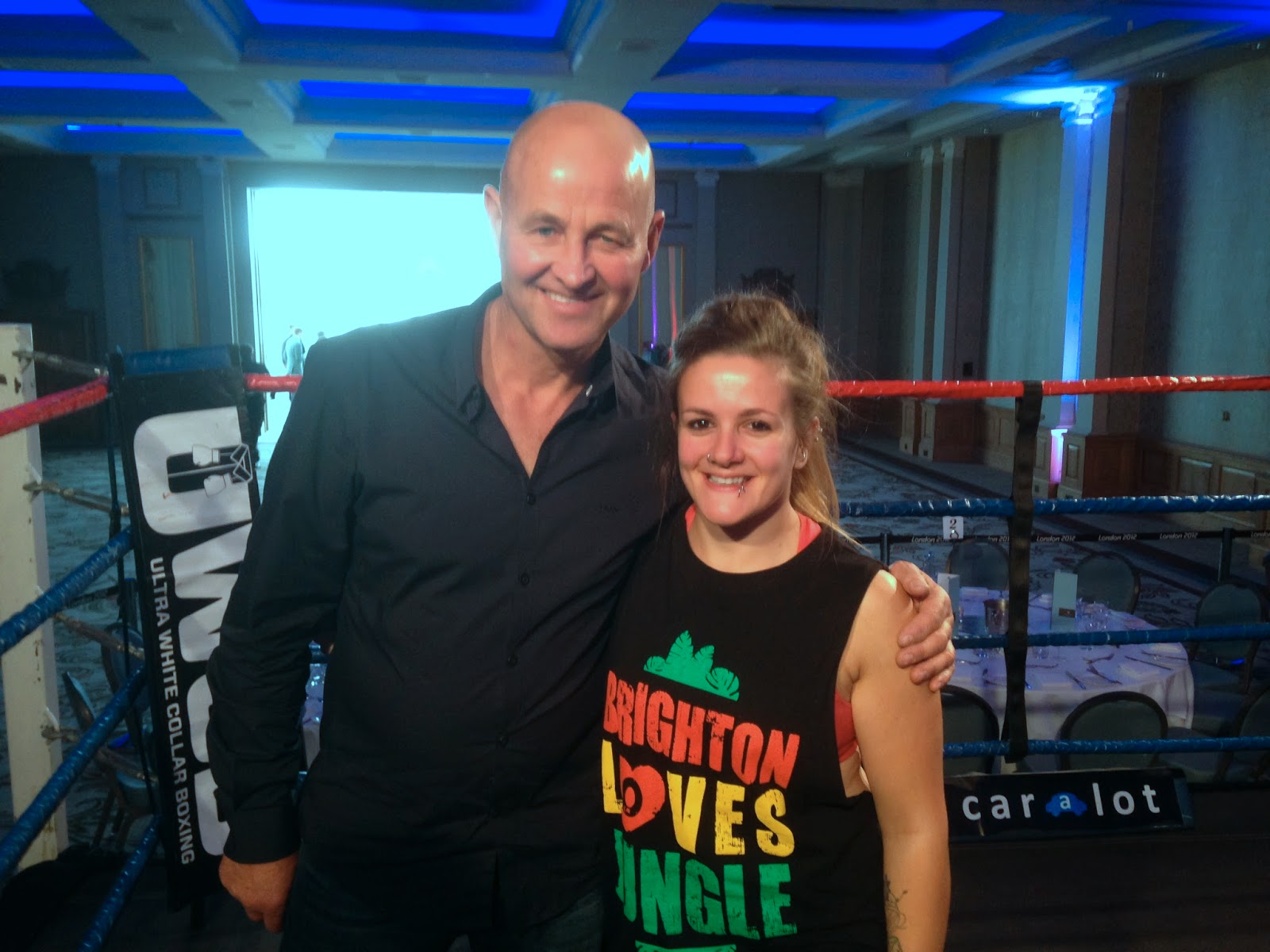 Ladies Ultra White Collar Boxing - Brighton - Tess Agnew and Mark West