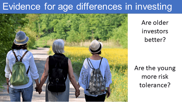 Are there evidence for differences in investing due to age?