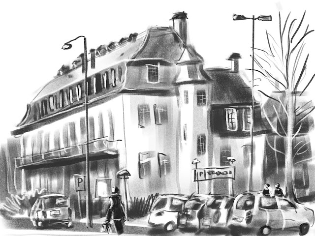 Urban sketch Malmö by Ulf Artmagenta