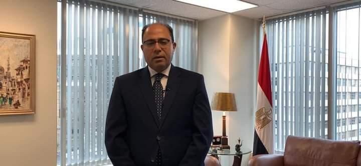 سفير مصر في كندا يشارك في قداس عيد الميلاد المجيد برسالة تليفزيونية مسجلة