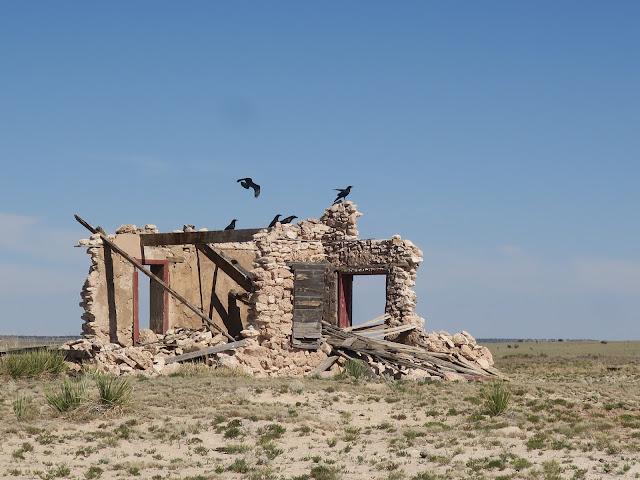 Stone building, Highway 54, between Vaughn and Santa Rosa, New Mexico. June 2020.