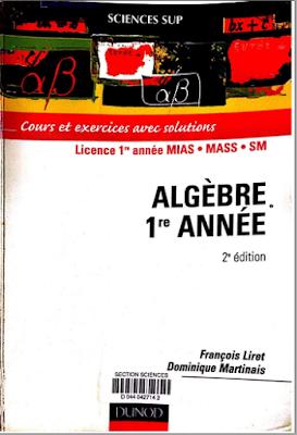Télécharger Livre Gratuit Algèbre 1re année, Cours et exercices avec solutions pdf