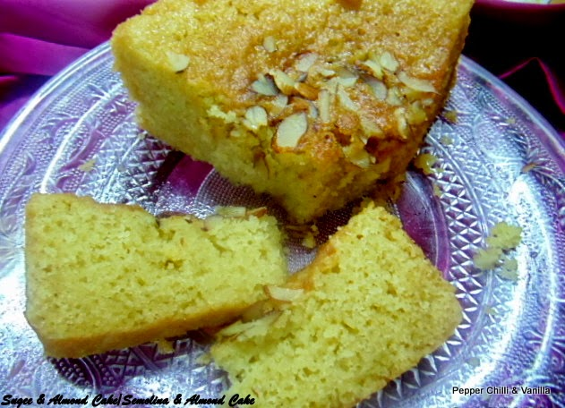how to make almond sugee cake/sugee almond cake