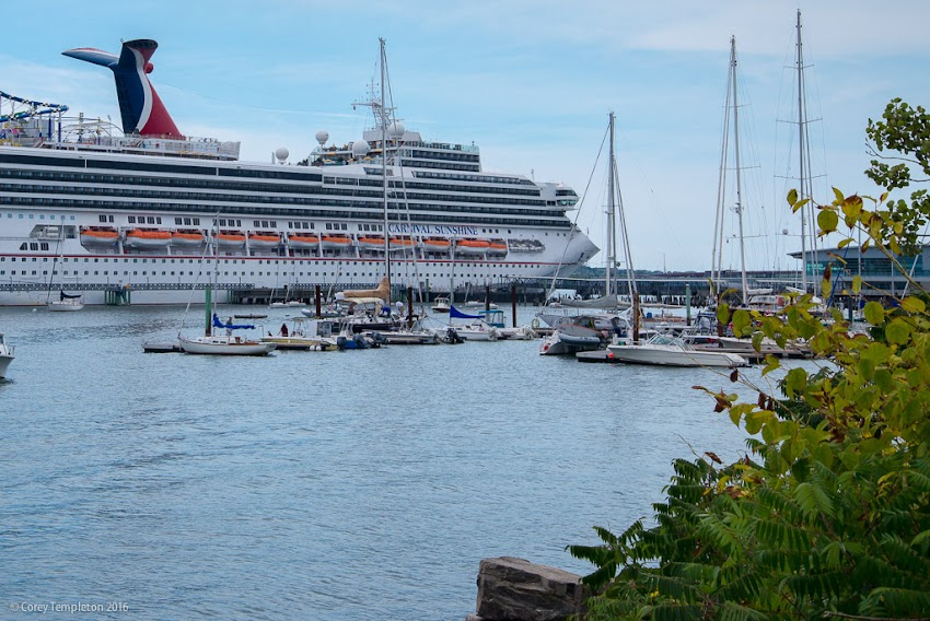 Portland, Maine USA September 2016 Ocean Gateway cruise ship Carnival Sunshine. Photo by Corey Templeton.