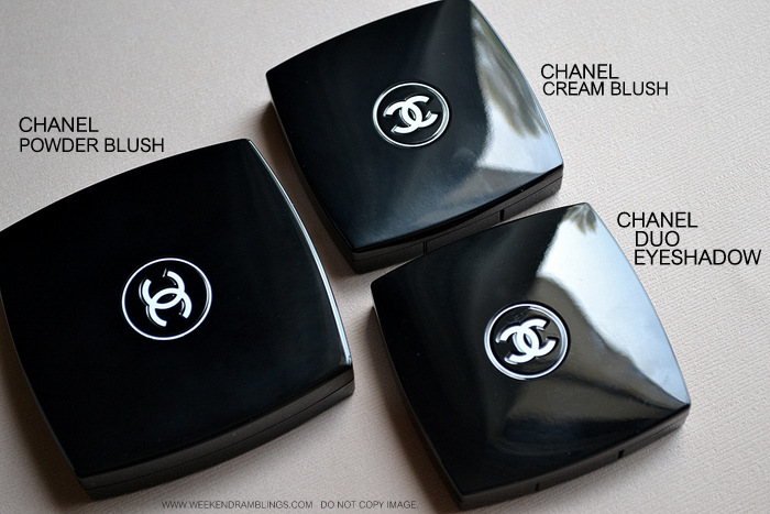 Le Blush Creme de Chanel - Size Comparisons - Powder Blush Duo Eyeshadow - Makeup Beauty Blog