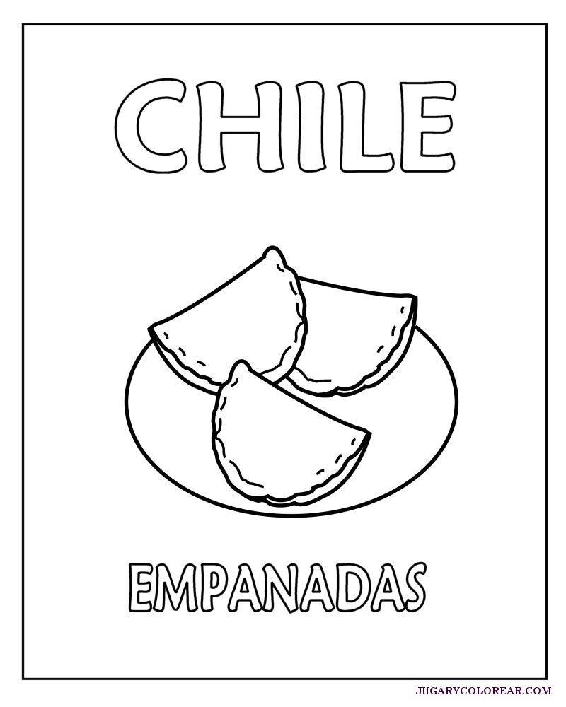 Chile Colorear Comidas Típicas