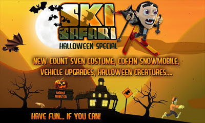 Ski Safari Halloween update for iPhone Android