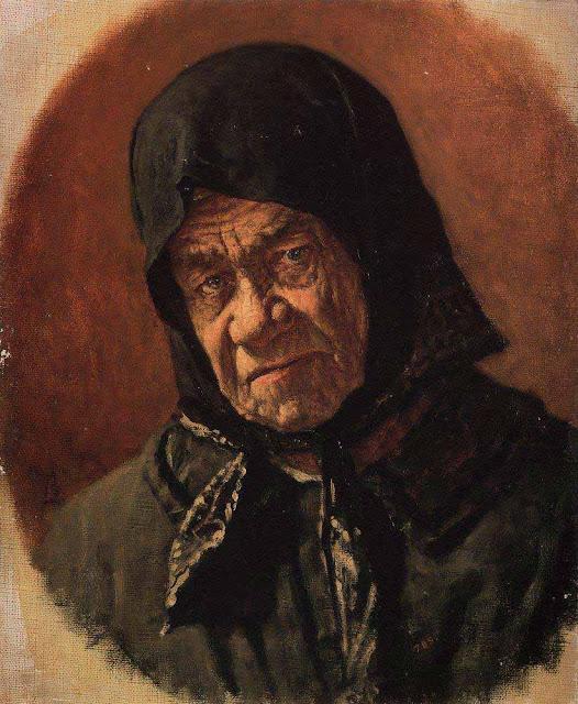 Василий Васильевич Верещагин - Старуха-нищенка девяносто шести лет. Около 1891