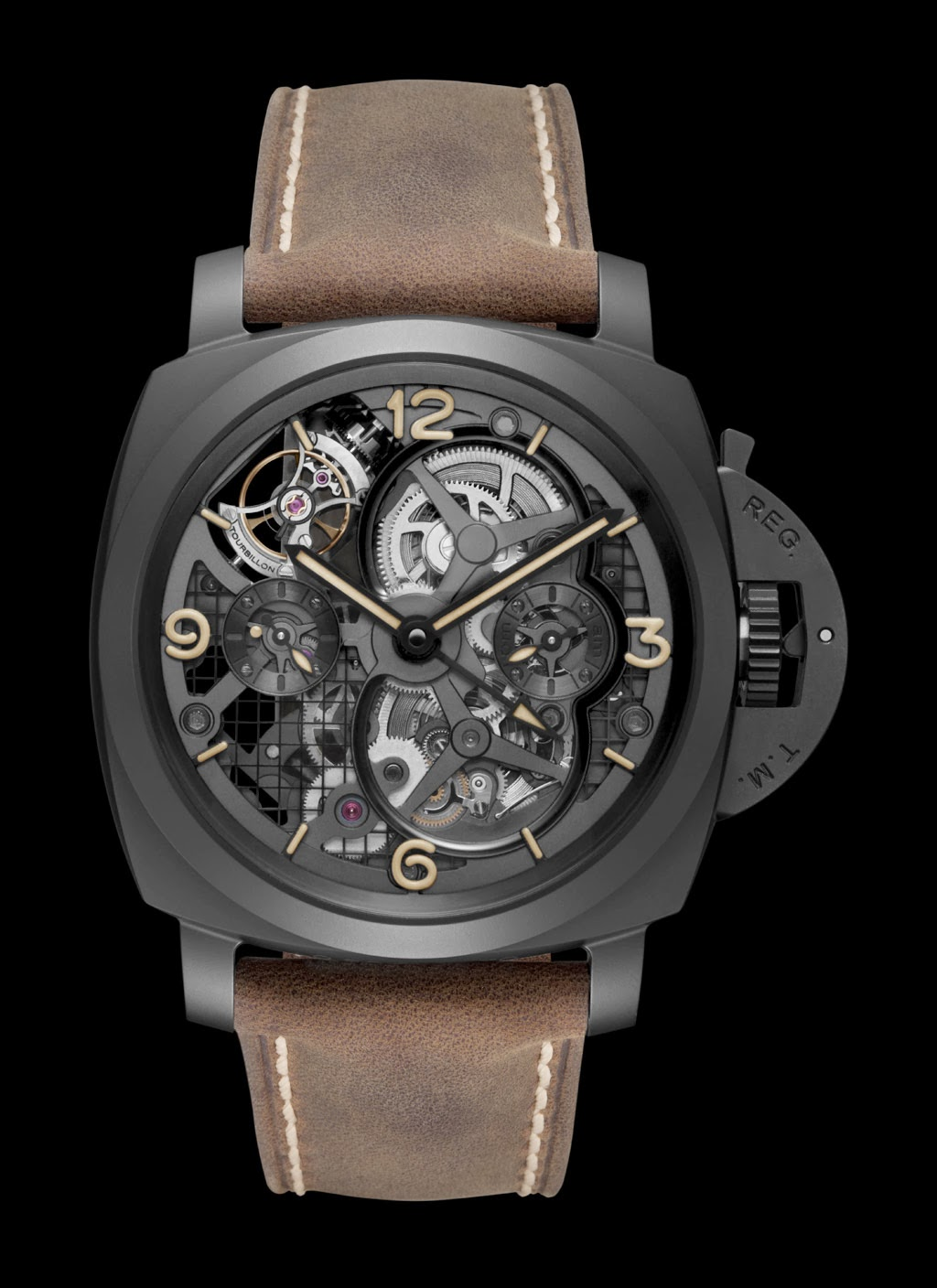 Officine Panerai Luminor 1950 Tourbillon Gmt Ceramica