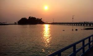 menanti sunrise dalam wisata pulau tidung