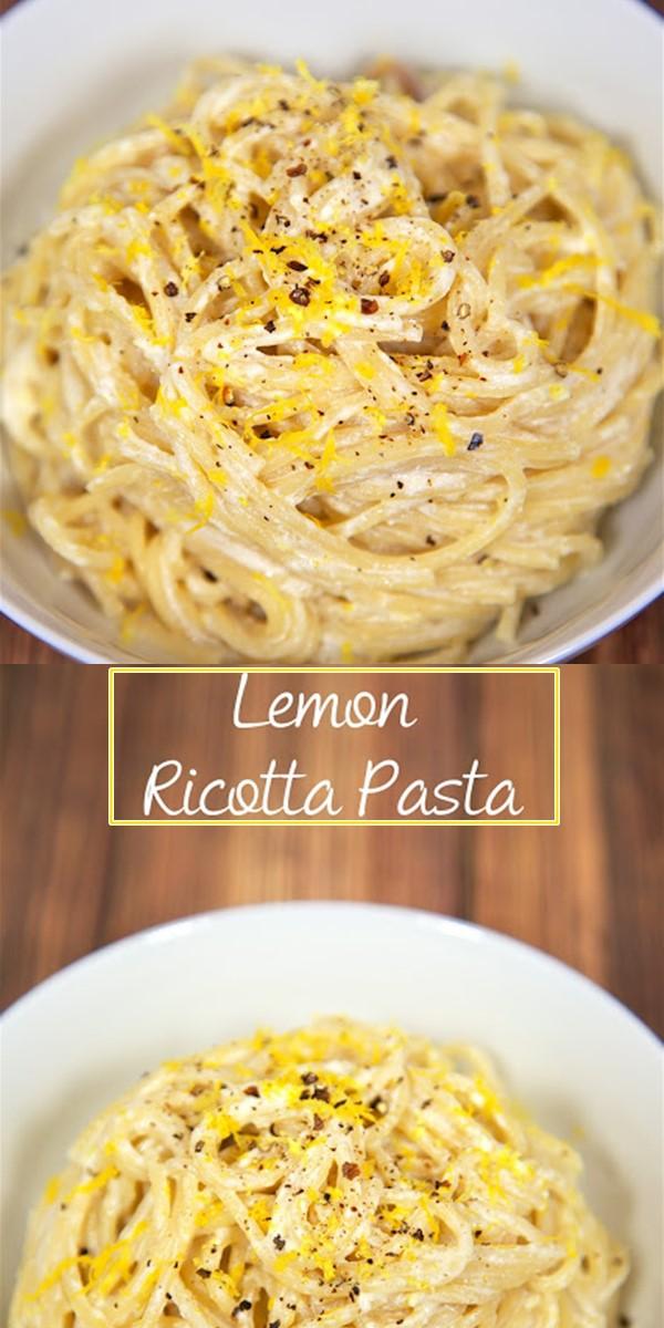 LEMON RICOTTA PASTA #Pastarecipes