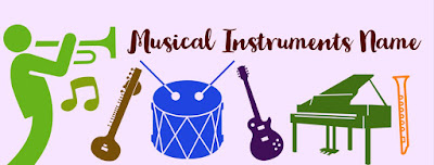 Musical Instruments Name List in English and Hindi