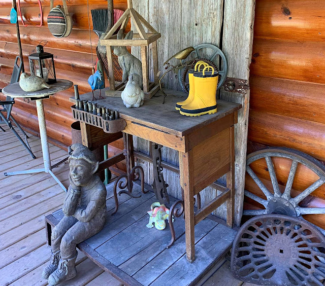 Photo of junk decor on the deck