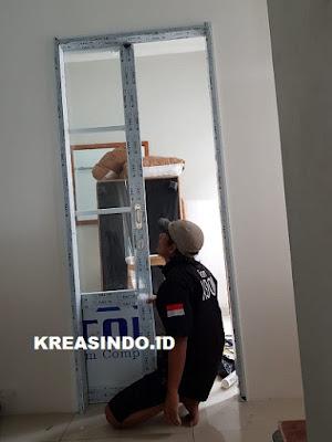 Pintu Aluminium Sleding pesanan Bpk Shaula di Ciputat Timur Tangerang