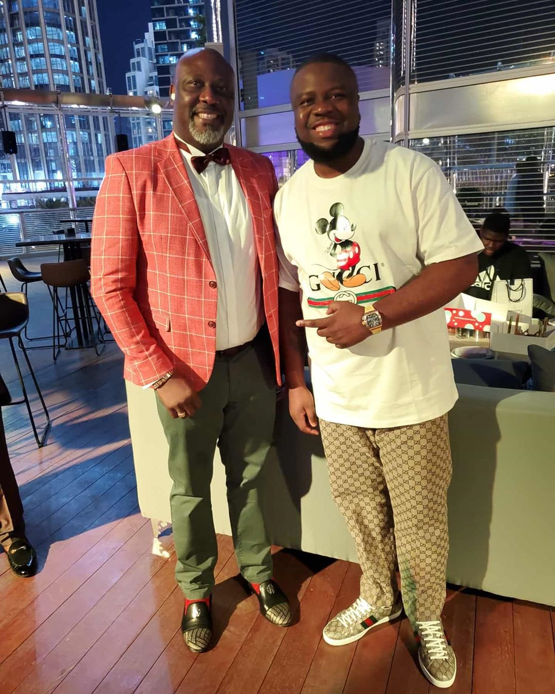 Throwback Photo Of Dino Melaye And Hushpuppi Having A Meal #Arewapublisize
