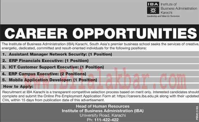 Career Opportunities in IBA
