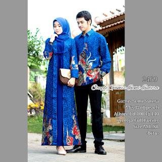 Baju Couple Muslim Batik Kode 2469 Semisutera