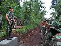 TMMD Desa Panjianom Tetap Berjalan di Tengah Kewaspadaan Terhadap Covid 19
