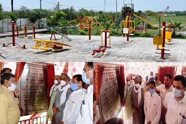 haryana-cm-manohar-lal-dcm-dushyant-chautala-98-open-gym-udghatan
