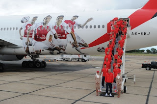 Arsenal At Airport Before Singapore Trip.