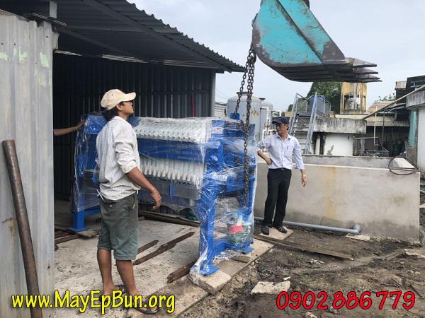 Lắp đặt máy ép bùn khunng bản Việt Nam cho HTX Tấn Thành - KCN Tân Phú Trung - Huyện Củ Chi