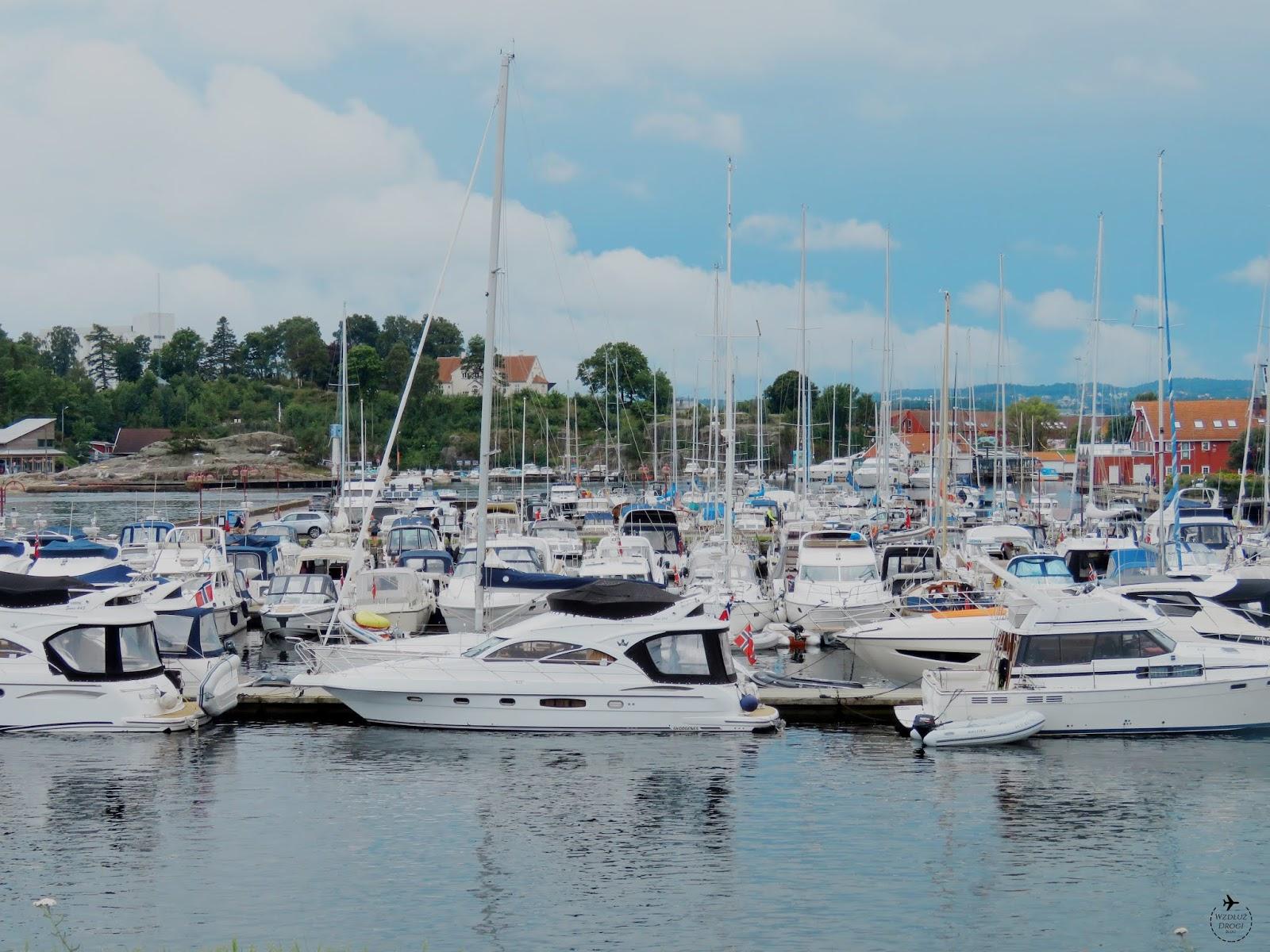 Jeden z wielu portów i jachty w Kristiansand