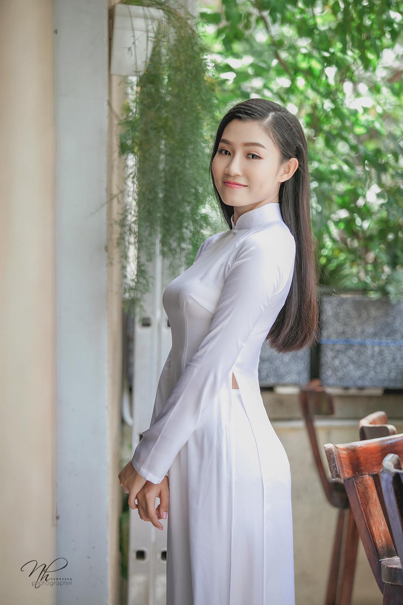 Tuyển tập girl xinh gái đẹp Việt Nam mặc áo dài đẹp mê hồn #60 - 3