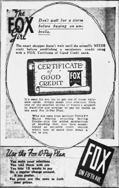 Newspaper Ad fof Fox On 5th Ave Womens Apparel