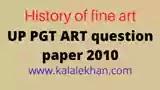 up pgt kala paper 2010