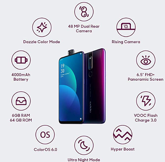 OPPO F11 Pro - 6GB RAM  64GB Storage On Amazon
