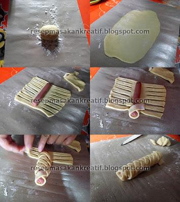 Bentuk Roti Isi Sosis