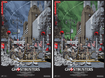 Ghostbusters Movie Poster Screen Print by Ken Taylor x Mondo