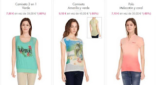 camisetas de la marca Kaporal para mujer