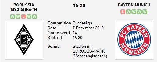 gladbach vs Bayern Munich