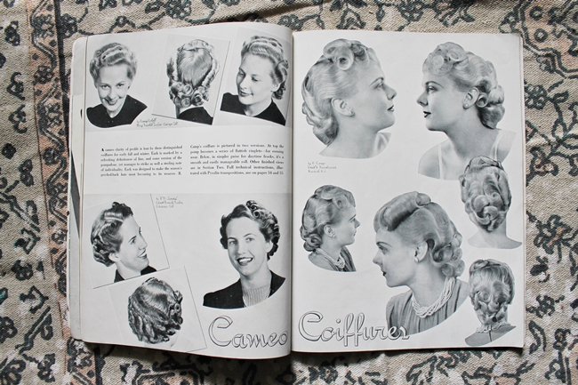 1940s pin curl setting patterns from American Hairdresser Magazine