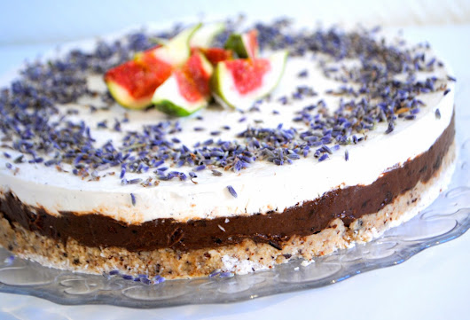 Raw Chocolate Levander Cake with Whipped Coconut Cream