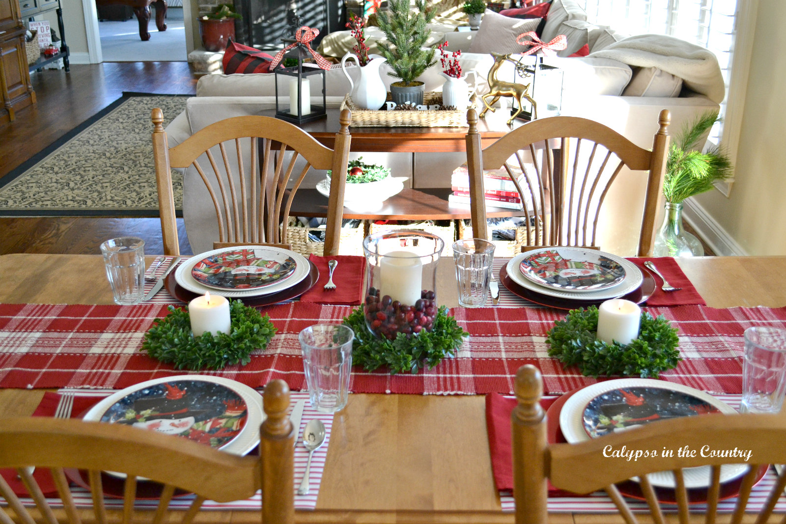 Festive Christmas Kitchen Table