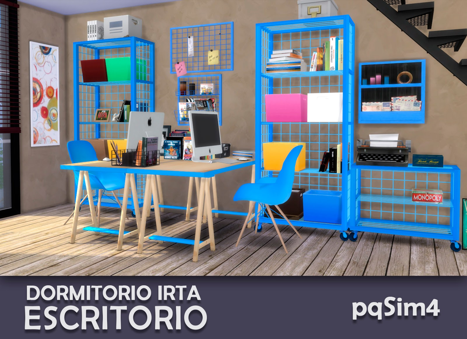 Dormitorio irta set 2 escritorio sims 4 custom content for Dormitorio sims 4