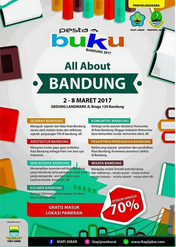 Pesta Buku Bandung 2017 : 2 - 8 Maret di Gedung Landmark