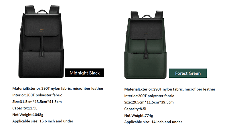 Midnight Black and Forest Green variants