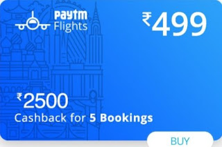 Paytm Flight Offers,Paytm cashback offers today