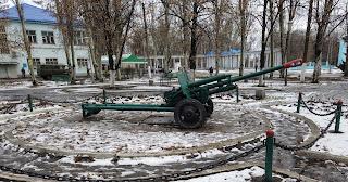 Часів Яр. Пам'ятник-гармата в сквері Слави