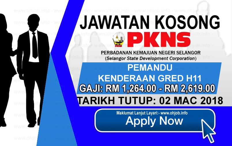 Jawatan Kerja Kosong Perbadanan Kemajuan Negeri Selangor - PKNS logo www.ohjob.info mac 2018